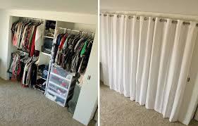 Curtains Closet Doors New Closet Curtains Open Sliding Closet Doors Maximize Space