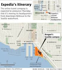 Bellevue Seattle Map by Expedia Will Make Seattle Waterfront Its New Home The Seattle Times