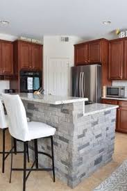 Kitchens With Bars And Islands Faux Stone Kitchen Island Airstone Faux Stone And Breakfast Bars