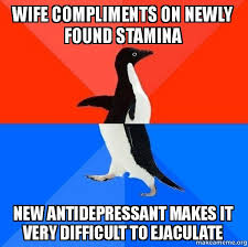 Antidepressant Meme - wife compliments on newly found stamina new antidepressant makes