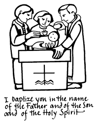 baptism colouring sheets coloring glum