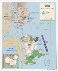 China On A Map Macao