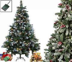 luxury pre lit frosted green tree pine cones warm white
