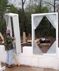 v buck system for window and door cutouts in icf construction