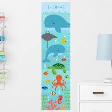 these educational wall ideas are perfect for kids nonagon style educational wall decor ocean themed under the sea growth chart nonagon