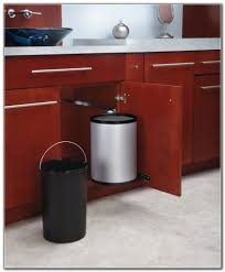 wood kitchen trash can cabinet kitchen set home decorating