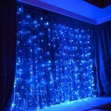 blue 110v us kwb led window curtain icicle lights 300 led