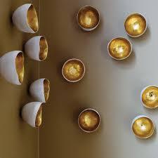 diy idea paint gold foil inside antique bowls and strategically