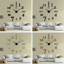 Large Mirrored Wall Clock Aliexpress Com Buy 2016 New Home Decoration Big Mirror Wall