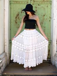 pattern for simple long skirt free pattern how to make a crochet lace skirt dress from a vintage