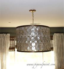 diy shell chandelier pig and paint how to make a diy designer capiz drum shade