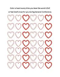 general conference activities and printables for children keep
