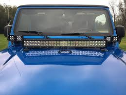 97 06 jeep tj led light windshield a pillar dual light mounting
