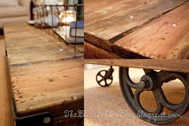 railroad cart coffee table restoration hardware look here part 6