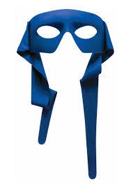 blue tie on eye mask