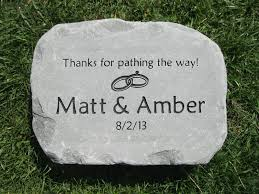 personalized stepping stones custom engraved garden stone by