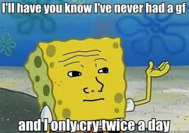Tough Spongebob Meme - tough spongebob i only cried for 20 minutes image gallery know