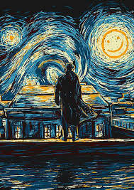 cool van gogh doctor who home decor poster 20x30 inches high