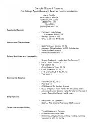 resume for highschool students going to college sle resumes for high students resume template student