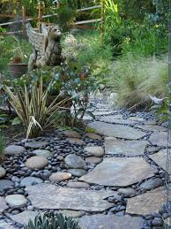 griffpath river rock and flagstone pathway garden pinterest
