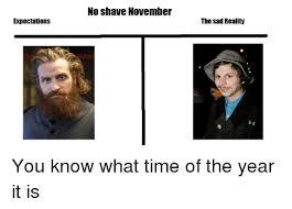 No Shave November Memes - no shave november expectations the sad reality no shave november