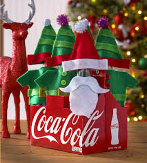 coca cola bottle santa and elves gift shareacoke mod podge rocks
