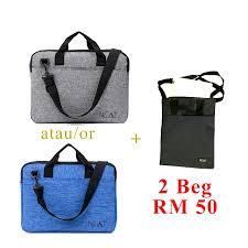 Jual Beg 2 laptop bag jual secara pakej fesyen lelaki beg dan dompet di