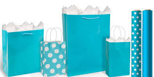 blue gift bags caribbean blue gift bags gift wrap party city