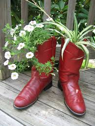 home trends flowers in old boots planters u2013 creative ideas use