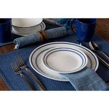 corelle livingware 16 dinnerware set classic cafe blue