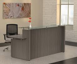 Reception Desk With Transaction Counter Sterling Series Modern Reception Desk Stg30