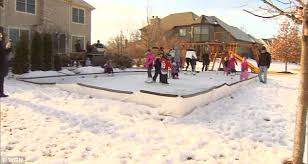 How To Make An Ice Rink In Your Backyard Man U0027s Homemade Ice Rink Is His Back Yard Is A Hit With His