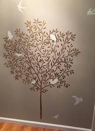 Stencil Albero by Stencil Large Olive Tree Wall Stencil