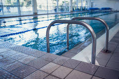 Swimming Pool Handrails Swimming Pool With Hand Rails Royalty Free Stock Photos Image