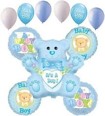 Welcome Baby Home Decorations 11pc Baby Boy Balloon Decoration Party Baby Shower Welcome Home