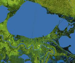 New Orleans Elevation Map by Space Images New Orleans Topography Radar Image With Colored Height