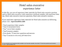 10 hotel experience certificate letter invitation format