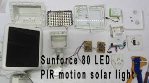 Led Solar Security Light With Motion Detector by Onstate 114 Disassembly Teardown Sunforce 80 Led Solar Pir Motion