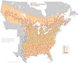 Time Zone Map For Usa Spring 2017 Migration Of Ruby Throated Hummingbirds