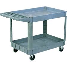 rubbermaid service cart with cabinet edsal heavy duty plastic utility cart 550 lb capacity model