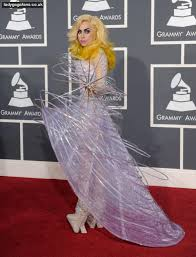lady gaga at grammy award funky dress photo shared by duane fans