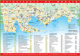 Map Of New York City Attractions Pdf by Tourist Map Of Monaco With Sightseeings And Hotels