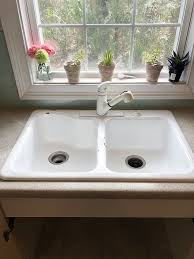 how to install an apron sink in an existing cabinet how to install a farmhouse drop in sink diy hometalk