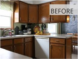 how to make cheap kitchen cabinets look better 15 diy kitchen cabinet makeovers before after photos of