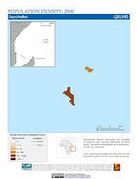 Seychelles Map Maps Global Rural Urban Mapping Project Grump V1 Sedac
