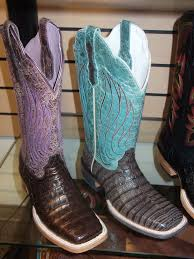 Images of Ariat Ariat Turnback Caiman Men Square Toe Leather Brown Western