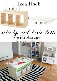 an ikea hack train u0026 activity table easy diy projects ikea hack
