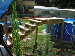picture of above ground pool stairs for decks basic pool stairs