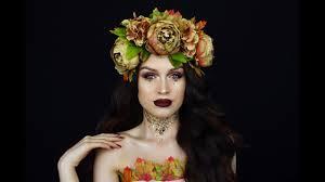 the queen of fall halloween makeup tutorial 2017 youtube