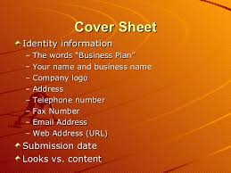 sample business plan cover page sample business plan presentation 2